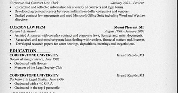 law office clerk resume