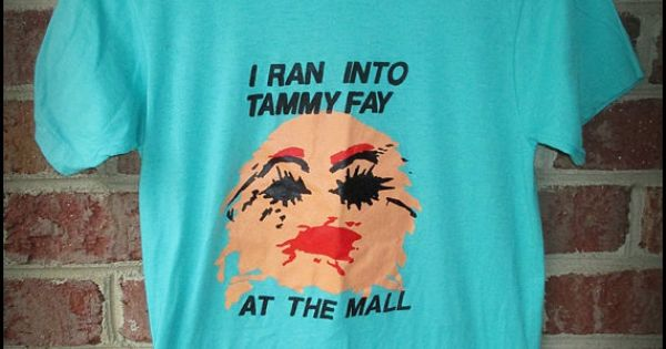 Vintage 80 S I Ran Into Tammy Faye Bakker Shirt By