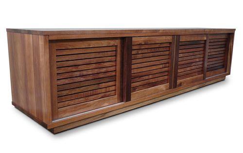 hamilton tasmanian blackwood louver tv unit | living room | pinterest, Hause ideen