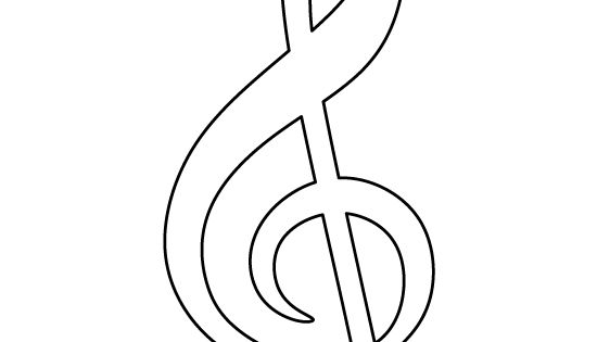 treble clef pattern  use the printable outline for crafts