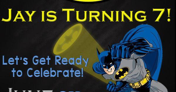 Batman Birthday Invitation by SGInvitations on Etsy | SLG Invitations | Pinterest | Batman ...
