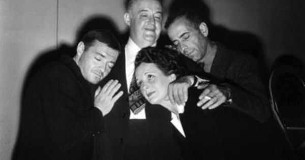 The Cast Of The Maltese Falcon 1941 In A Group Hug Humphrey Bogart Peter Lorre Mary Astor
