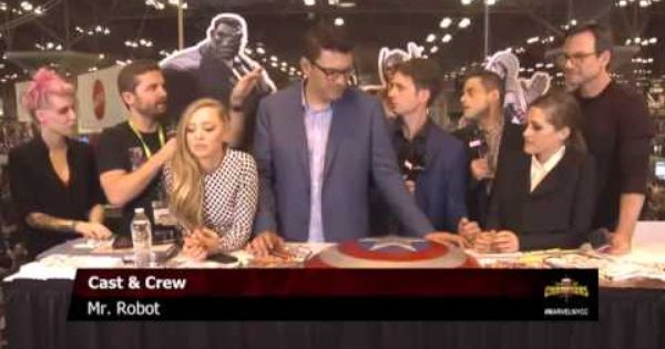 No Spoilers Rami Malek Mr Robot Cast Creator Interview With Marvel Live At Nycc R Mrrobot Mr Robot Cast Robots Cast Mr Robot