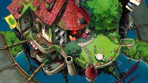 宮崎駿監督の75歳の誕生日を祝い投稿された75枚の宮崎駿ジブリの代表作から題材を得た壁紙がすごい ハウルの動く城 ハウル ジブリ