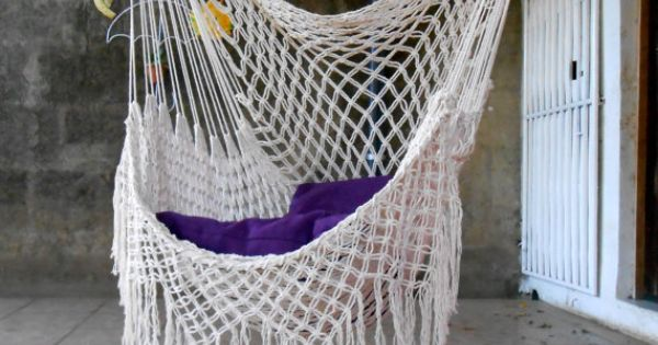 Swing chair macrame special 6500 hammock pinterest for Macrame hammock chair pattern