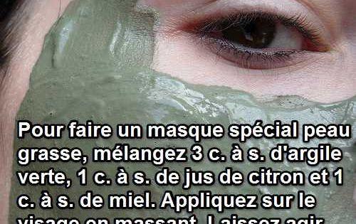 Un masque l 39 argile pour peau grasse fait maison et naturel - Masque peau grasse maison ...