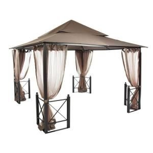 Palram Martinique 4300 14 Ft X 10 Ft Aluminum Frame Rectangle Gazebo 702564 Gazebo Home Screened Gazebo