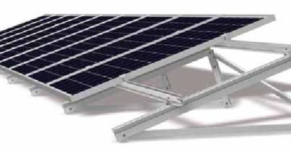 Flat Roof Solar Pv Panel Flat Roof Mounting Components Zonnepanelen Energiebesparing Zonne Energie