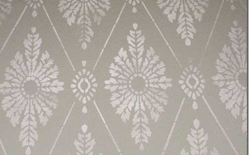 DIY tutorial - Diamond Damask stencil