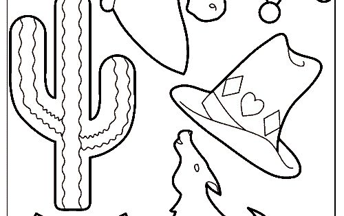 cowboy texas theme coloring pages