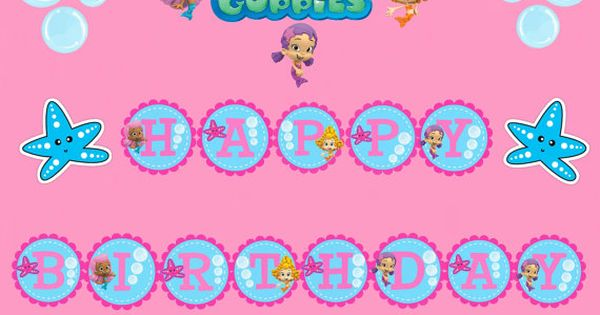 Bubble Guppies Party Printables Free Printable Bubble Guppies Birthday Banner By Amanda 39 S
