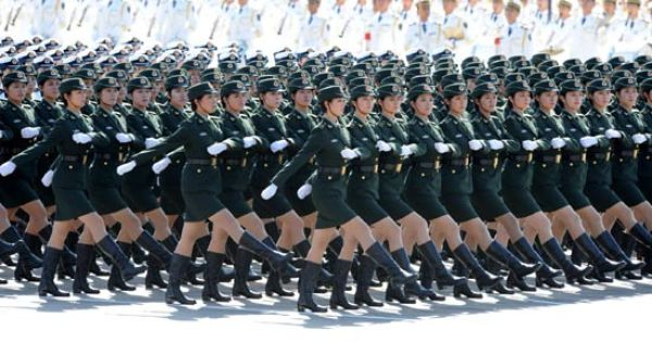 chinese military women images pla kicks off grand