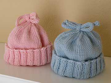 free baby hat knitting pattern uk