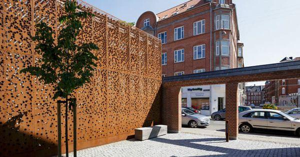 Bardage de façade métallique / en acier Corten - MUNICIPAL BUILDING ...