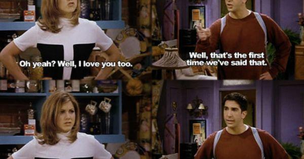 Ross and Rachel. Friends.