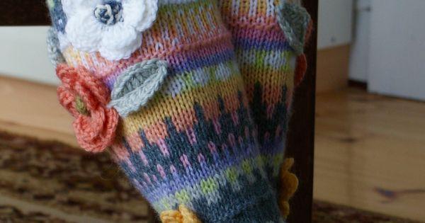 decorative flowers on knit knee socks fun & fancy free ...