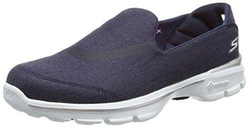 Skechers Go Walk 3 Riviera Womens Slip On Walking Sneakers