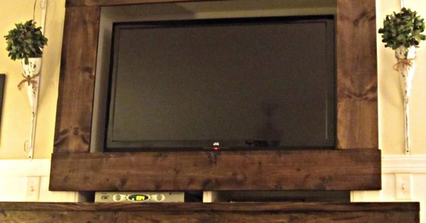TV Stained Barn Wood Frame Home Decor Pinterest Wood And Woods