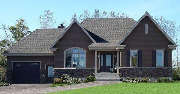 w2163 v2 plan de maison bungalow style champ tre rustique craftsman 2 chambres espace bureau. Black Bedroom Furniture Sets. Home Design Ideas