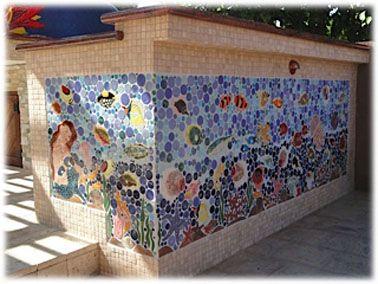 Tropical Reef Fish Ceramic Tiles Outdoor 1 Jpg 378 284 Mosaic Wall Art Tropical Mosaic Tile Mosaic Artwork