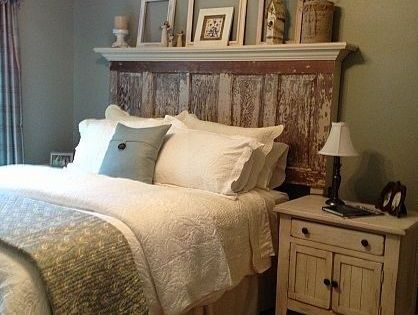 How To Turn An Interior Door Into A Headboard Discover