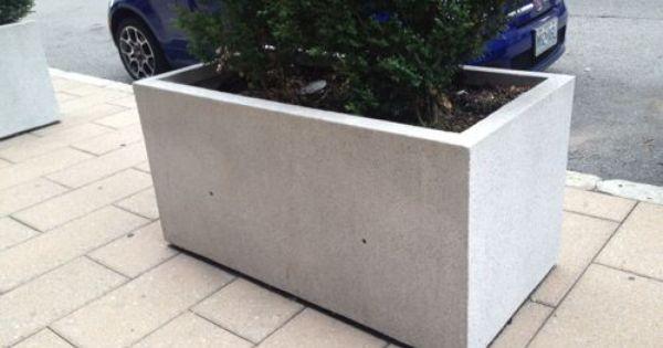 Rectangular Cement Planter Box Pflanzkasten Zement Pflanzen