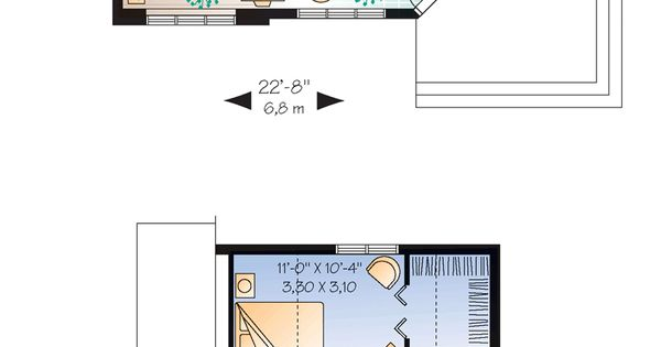 Narrow lot house plan 76168 total living area 991 sq for South cathedral mansions floor plans