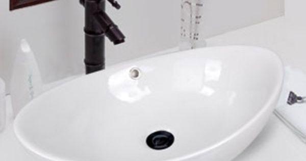 Oval Bathroom Sink W Asian Style Faucet S G Bathroom