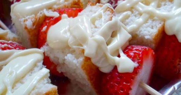 Strawberry Shortcake Kabobs! Summer Party Idea