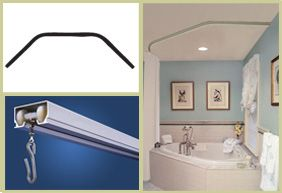 Ceilingshowerrod Com Shower Curtain Rods Tub Remodel Corner