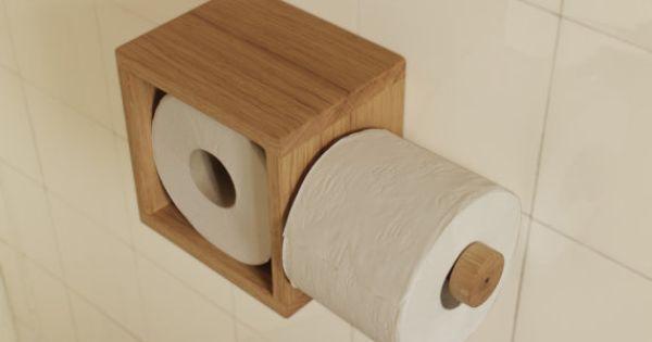 Porte papier toilette porte rouleau par serialdesigner sur for Meuble porte papier toilette