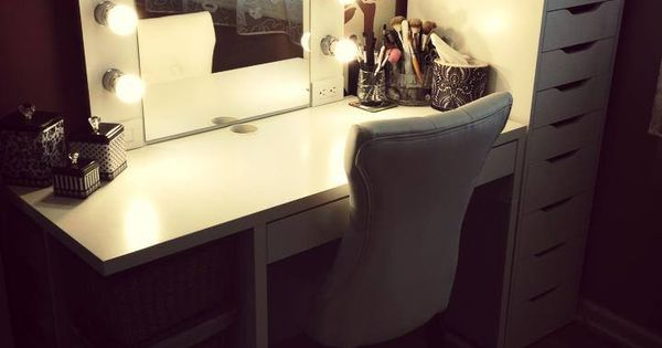 Vanity Desk With Mirror And Lights