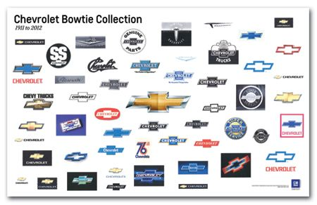 Chevrolet Bowtie Collection Art Poster Chevy Mall Chevrolet Bowtie Chevrolet Chevy