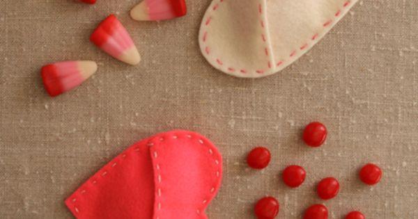 Felt Candy Hearts - inspiration for felt heart trinket bags