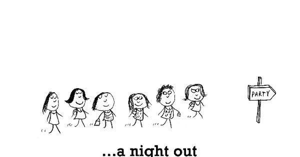 Girls Night Out Quote: Happiness Is, A Night Out With Girls.