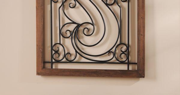 Elegant Iron Wall Decor : Elegant metal scroll plaque wrought iron wall decor