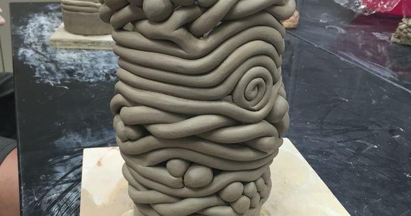 Seaman High School Ceramic 2 Student Coil Built Vase High School Ceramic Lessons Pinterest