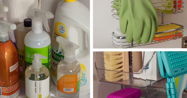 Organize Kitchen Cleaning Supplies: Clever Tricks Left: Lazy Susan, $25, containerstore.com. Top