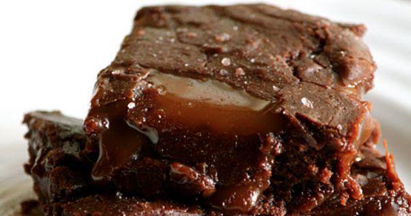 Salted Carmel Brownies ~ The Flourishing Foodie