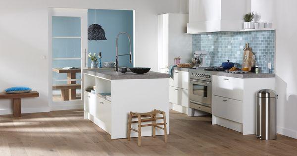 Bruynzeel Bolton keuken in het wit  Keukens  Pinterest