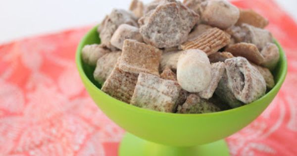 For Preschool's camping unit: The Apron Gal: Smore's Muddy Buddies