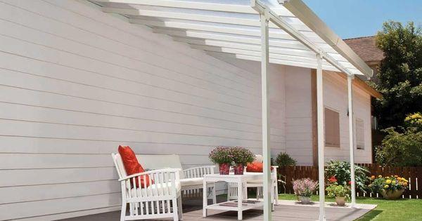 Votre Pergola Aluminium Patio 420x300 De 12 6 M De Chez Chalet Et Jardin Est Livree Avec 3 Poteaux Ajustables Pergola Patio Outdoor Pergola Backyard Pergola