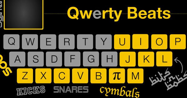 online not an app cool qwerty beats turns your keyboard into an online drum set typing. Black Bedroom Furniture Sets. Home Design Ideas