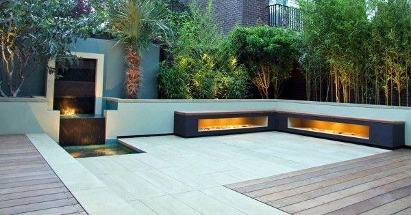 dach terrasse gestalten kleiner wasserfall ideen rund ums haus pinterest design. Black Bedroom Furniture Sets. Home Design Ideas