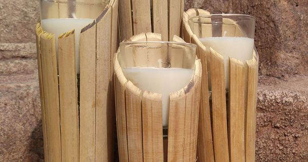 Bamboo Candle Holders By Wildbydezine On Etsy Art