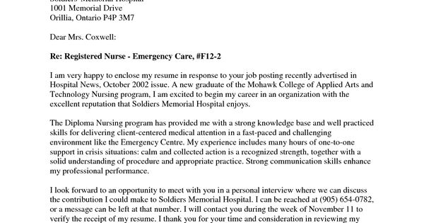 new grad nursing cover letter