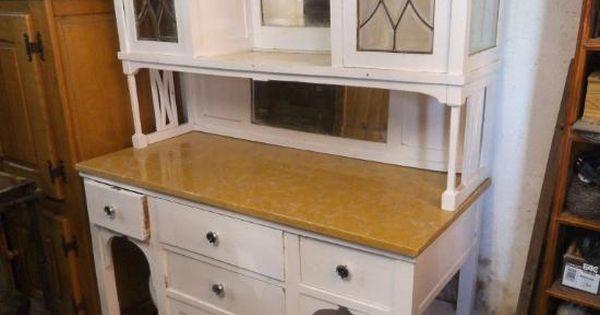 Mueble de cocina en blanco antiguo antig edades muebles - Muebles de cocina antiguos ...