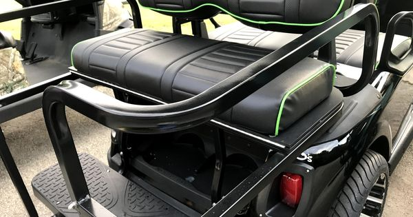Golf Cart Rear Seat Get A Kit Turn Your Cart Into A 4 Seat Golf Cart Ezgo Golf Cart Golf Carts Rear Seat
