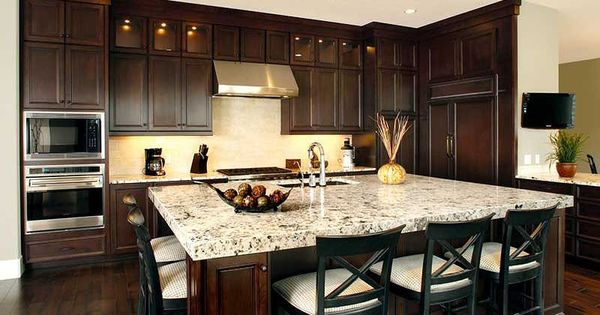 Kitchen With Island Seating Love The Seating On Both Sides Dream Kitchen Pinterest Kitchens