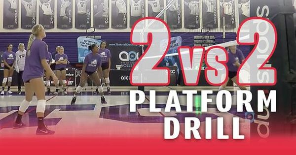 2 Vs 2 Platform Drill With Jill Kramer Volleyball Drills Volleyball Training Coaching Volleyball